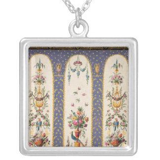 Decorative design for a garden arbour or loggia necklace