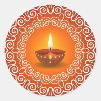 Decorative Diwali Design Classic Round Sticker