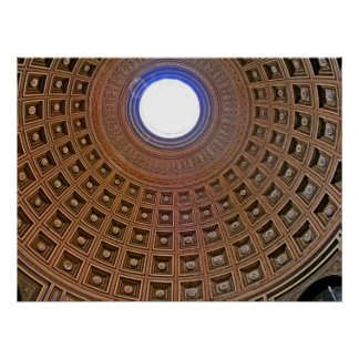 Decorative Domed Ceiling, Rome Poster