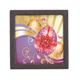 Decorative Easter Background 2 Gift Box