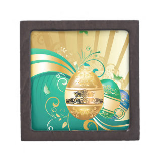 Decorative Easter Background Gift Box