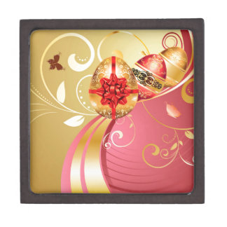 Decorative Easter Background Jewelry Box