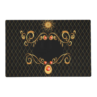Decorative, elegant design placemat
