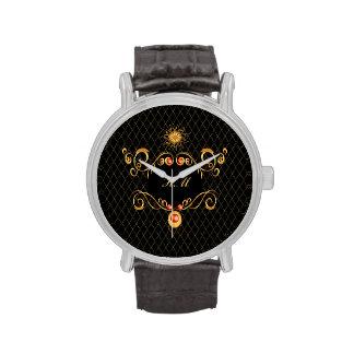 Decorative, elegant design wristwatch
