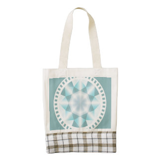 Decorative elegant diamond zazzle HEART tote bag