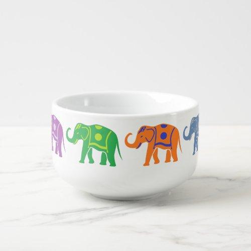 Decorative Elephants Soup Mug