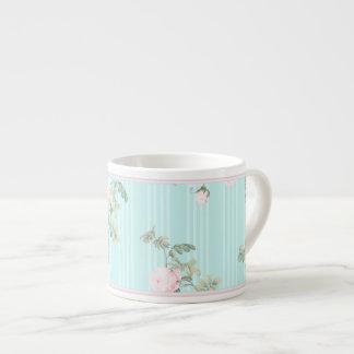 Decorative espresso mug small shabby chic roses