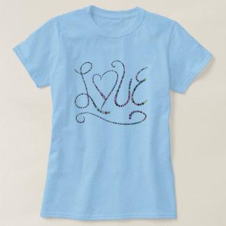 Decorative Fancy Elegant Script Colorful Love T-shirt