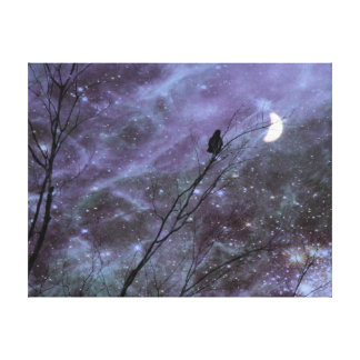 Decorative Fantasy Crow Art Gallery Wrapped Canvas