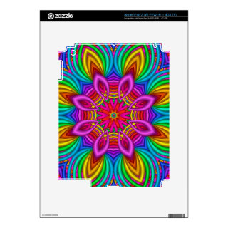 Decorative fantasy flower iPad 3 skin