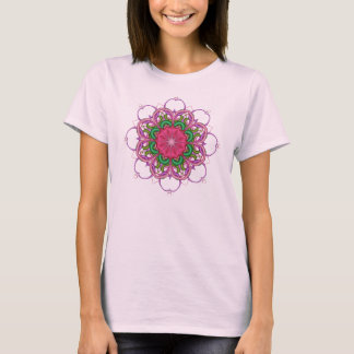 Decorative Fantasy Flower T-shirt