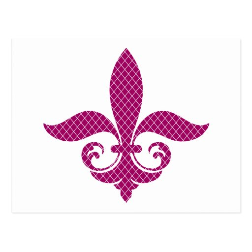 Decorative Fleur De Lis Gifts and Tees Postcard