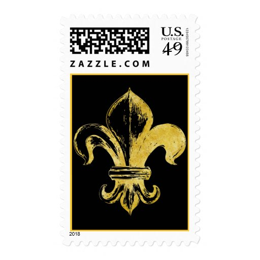 Decorative Fleur De Lis Gifts and Tees Stamp