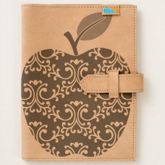 Decorative Floral Apple Custom Leather Journal