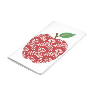 Decorative Floral Apple Custom Pocket Journal