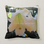Decorative floral art mother's day pillow