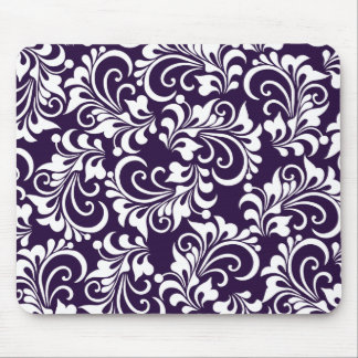 decorative floral background mouse pad