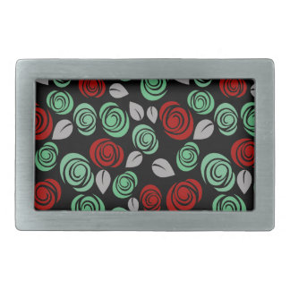 Decorative floral design belt buckle