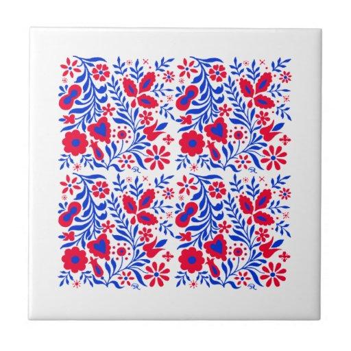 Decorative Floral Design Ceramic Tile Zazzle