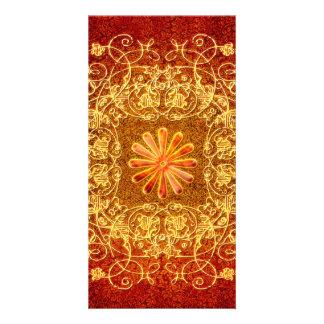 Decorative floral elements card