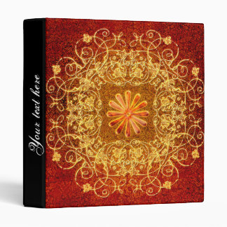 Decorative floral elements in yellow binder