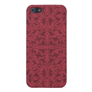Decorative Floral Motif Cover For iPhone SE/5/5s