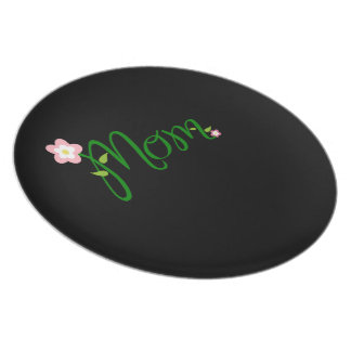 Decorative Floral Mum Plates