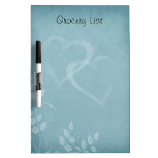 Decorative Floral Pattern with Heart Reminder List Dry-Erase Board
