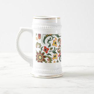 Decorative floral patterns coffee mugs