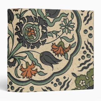 Decorative Floral Persian Tile Design Binder
