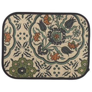 Decorative Floral Persian Tile Design Car Floor Mat