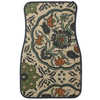 Decorative Floral Persian Tile Design Car Mat