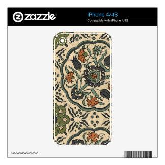 Decorative Floral Persian Tile Design iPhone 4 Skin