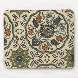 Decorative Floral Persian Tile Design Mouse Pad