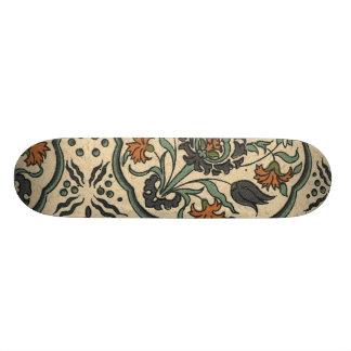 Decorative Floral Persian Tile Design Skateboard Deck