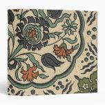 Decorative Floral Persian Tile Design Vinyl Binder