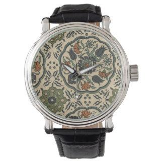 Decorative Floral Persian Tile Design Watches