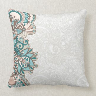 decorative floral pillow