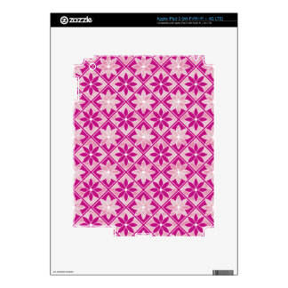 Decorative Floral Tiles iPad Skin - Purple