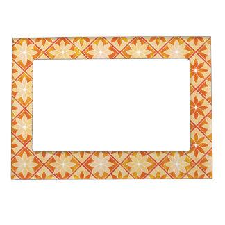 Decorative Floral Tiles Magnetic Frame - Autumn