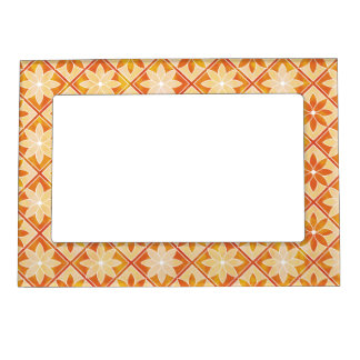 Decorative Floral Tiles Magnetic Frame - Autumn