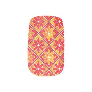 Decorative Floral Tiles Minx Nails - Red Minx ® Nail Art