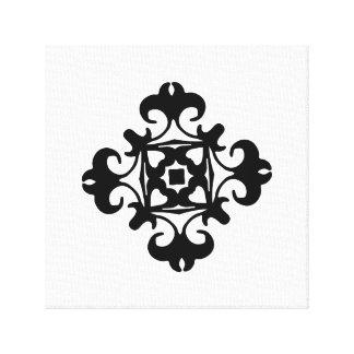 Decorative Florette Classic Black and White Canvas Print