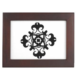 Decorative Florette Classic Black and White Memory Box