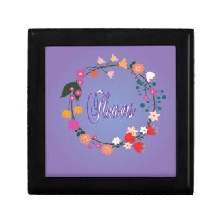 """Decorative """"flower arrangement."""" trinket boxes"""