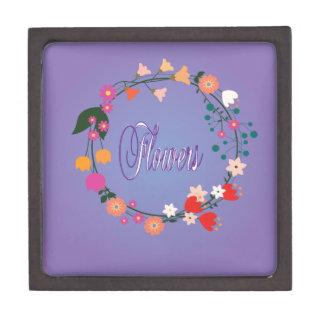 "Decorative ""flower arrangement."" premium keepsake boxes"