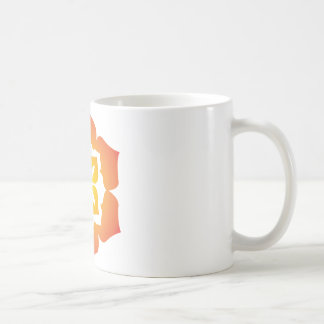 Decorative Flower Design Coffee Mug