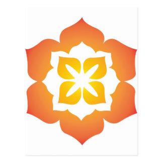 Decorative Flower Design Postcard