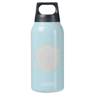 Decorative Flower Lotus Insulated Water Bottle