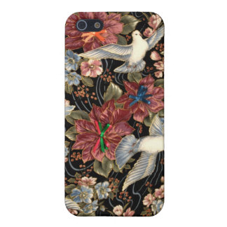 Decorative Flowers And Doves Case For iPhone SE/5/5s